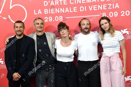 Director Olivier Assayas with Guillaume Canet, Nora Hamzawi, Vincent Macaigne, Christa Theret