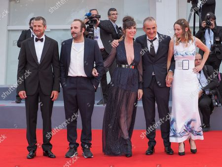 Guillaume Canet, Vincent Macaigne, Nora Hamzawi, Olivier Assayas and Christa Theret