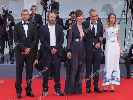 Stock Picture of Guillaume Canet, Vincent Macaigne, Nora Hamzawi, Olivier Assayas and Christa Theret