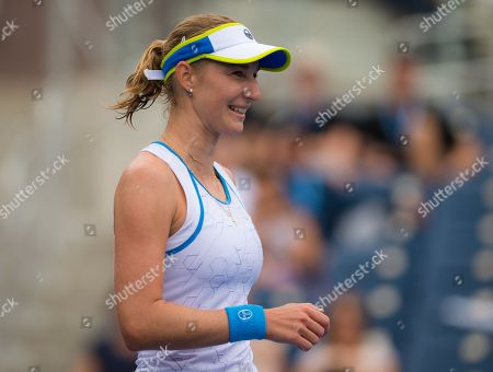Ekaterina Makarova of Russia in action during her third-round match