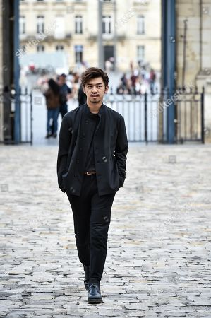 Taiwanese actor Chen Bolin arrives at Bordeaux city hall