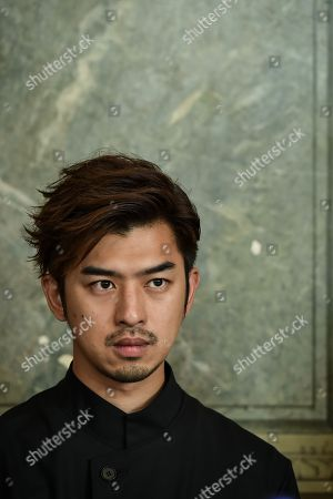 Taiwanese actor Chen Bolin at Bordeaux city hall