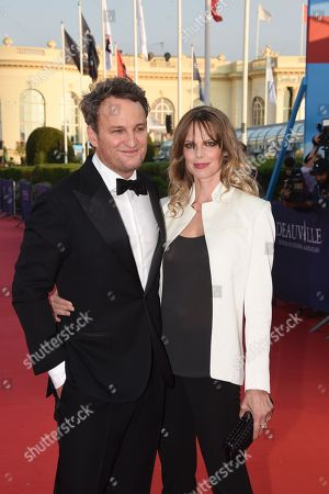 Jason Clarke and his wife French actress Cecile Breccia