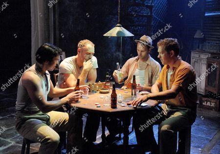Luke Rutherford (Pablo), Elliot Cowan (Stanley Kowalski), Gary Milner (Steve), Barnaby Kay (Mitch)