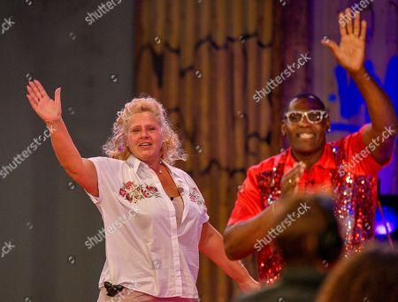 Silvia Wollny and Alphonso Williams beim Finale der 6. Staffel of Promi Big Brother auf dem MMC-Gelände in Köln  / 310818 *** / Start of German TV Show Promi Big Brother, Cologne, Germany - 31 Aug 2018*** ..Sascha Schuermann