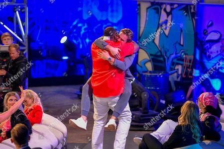 Alphonso Williams and Johannes Haller   beim Finale der 6. Staffel of Promi Big Brother auf dem MMC-Gelände in Köln  / 310818 *** / Start of German TV Show Promi Big Brother, Cologne, Germany - 31 Aug 2018*** ..Sascha Schuermann