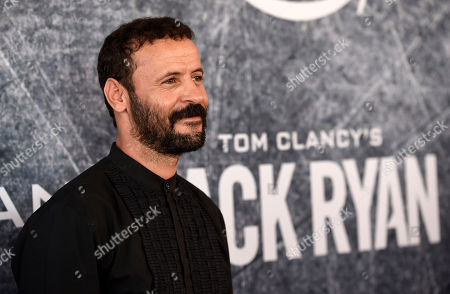 "Stock Photo of Ali Suliman, a cast member in ""Tom Clancy's Jack Ryan,"" poses at the premiere of the Amazon Prime Video television series at the Port of Los Angeles, in Los Angeles"