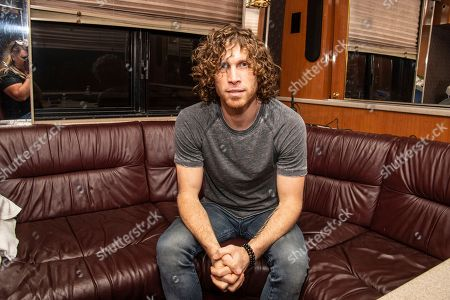 Stock Image of Jonny Hawkins of Nothing More seen at the Ruoff Home Mortgage Music Center, in Noblesville, Indiana