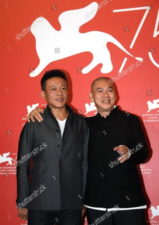 Taiwanese filmmaker Tsai Ming-Liang (R) and Taiwanese actor Lee Kang-sheng pose during a photocall for 'Ni de Lian' (Your Face) during the 75th annual Venice International Film Festival, in Venice, Italy, 01 September 2018. The festival runs from 29 August to 08 September 2018.
