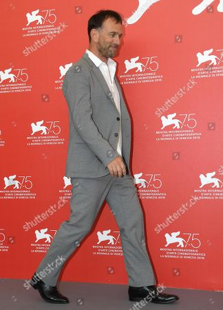 French director David Oelhoffen poses during a photocall for 'Freres Ennemis' during the 75th annual Venice International Film Festival, in Venice, Italy, 01 September 2018. The movie is presented in the official competition 'Venezia 75'. The festival runs from 29 August to 08 September 2018.