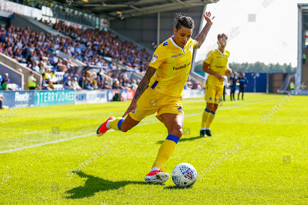Daniel Leadbitter of Bristol Rovers crosses the ball into the box