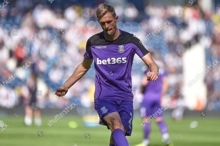Stock Picture of Stoke City midfielder Darren Fletcher (24) during the EFL Sky Bet Championship match between West Bromwich Albion and Stoke City at The Hawthorns, West Bromwich
