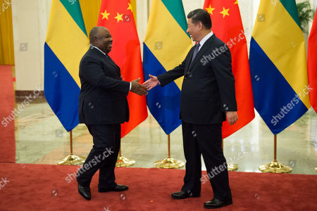 Gabon's President Ali Bongo Ondimba (L) shakes hands with China's President Xi Jinping (R) before their bilateral meeting at the Great Hall of the People, Beijing, China, 01 September 2018. Ondimba is in China for the Forum on China-Africa Cooperation which will be held between 03 to 04 September Beijing.
