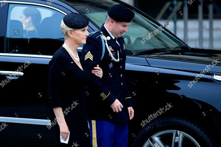 Cindy McCain, Jimmy McCain. Cindy McCain, left, and her son Jimmy McCain, right, follow the casket of Sen. John McCain, R-Ariz., as it arrives at the Washington National Cathedral in Washington, for a memorial service. McCain died Aug. 25 from brain cancer at age 81