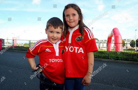 Munster vs Toyota Cheetahs. Munster fans Lee and Kate O'Mahoney