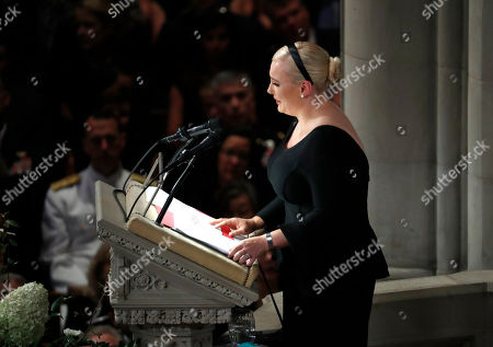 Meghan McCain speaks at a memorial service for her father, Sen. John McCain, R-Ariz., at Washington National Cathedral in Washington, . McCain died Aug. 25, from brain cancer at age 81