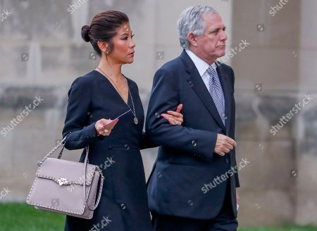 CBS Television CEO Les Moonves (R) and his wife Julie Chen (L) arrive for the funeral service for Senator John McCain at the Washington National Cathedral in Washington, DC, USA, 01 September 2018. McCain died 25 August 2018 from brain cancer at his ranch in Sedona, Arizona, USA. He was a veteran of the Vietnam War, served two terms in the US House of Representatives, and was elected to five terms in the US Senate. McCain also ran for president twice, and was the Republican nominee in 2008.