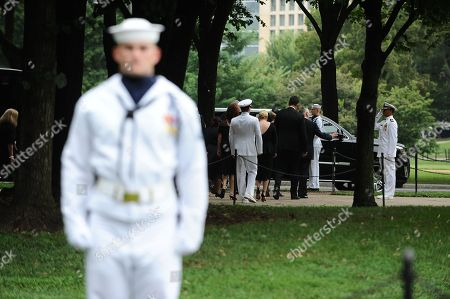 The McCain family leaves after U.S. Secretary of Defense James Mattis,General John Kelly, White House Chief of Staffand Cindy McCain, wife of late Senator John McCain, lay a ceremonial wreath honoring all whose lives were lost during the Vietnam War at the Vietnam Veterans Memorial in Washington D.C., 01 September 2018 after attending a  memorial service for John McCain.  John McCain died 25 August, 2018 from brain cancer at his ranch in Sedona, Arizona, USA. He was a veteran of the Vietnam War, served two terms in the US House of Representatives, and was elected to five terms in the US Senate. McCain also ran for president twice, and was the Republican nominee in 2008.