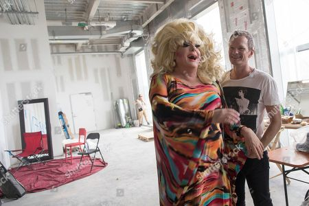 Lady Bunny, Neil Patrick Harris. Lady Bunny and Neil Patrick Harris laugh backstage ahead of performing during Wigstock, in New York. The 1980s festival, an impromptu creation of unruly patrons in drag who stumbled out of an East Village club at about 2 a.m. to improvise for homeless people in garbage-strewn, rat-infested Tompkins Square Park, was revived at New York City's Pier 17