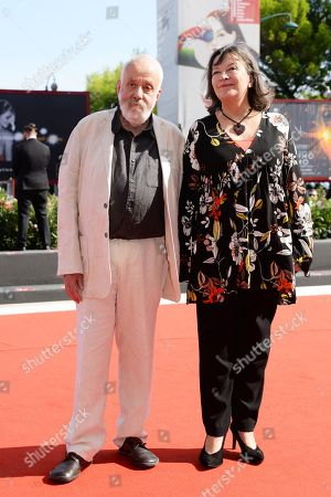 Mike Leigh and Marion Bailey