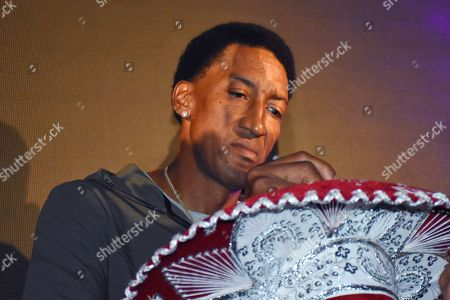 Stock Photo of Scottie Pippen, during 'Heat Sports and Fitness Feast' at Citibanamex