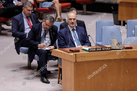 Bashar Jaafari, Permanent Representative of the Syrian Arab Republic to the United Nations During the Security Council meeting on the situation in the Middle East (Syria)