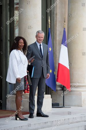 Finances Minister, Bruno Le Maire, sports minister, Laura Flessel