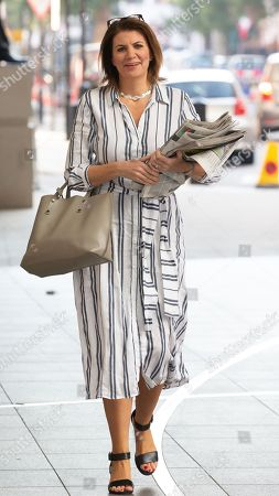 Stock Photo of Julia Hartley-Brewer arrives for The Andrew marr Television Show