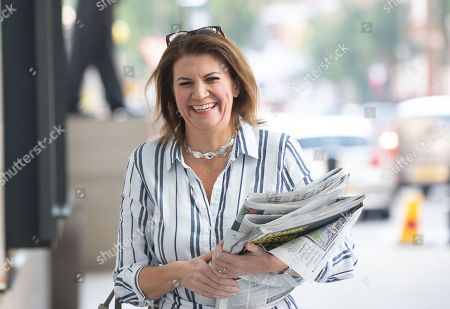 Stock Image of Julia Hartley-Brewer arrives for The Andrew marr Television Show