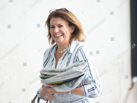 Julia Hartley-Brewer arrives for The Andrew marr Television Show