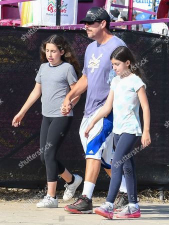 Adam Sandler with his daughters Sadie and Sunny