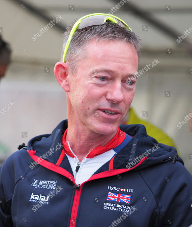 Stephen Park former Olympic sailing coach now Great Britain's Cycling Performance Director at Bart's Bash charity cycle ride at WPNSA, Portland, Dorset.