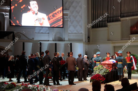 A general view during a funeral ceremony of the Soviet and Russian singer Iosif Kobzon at Tchaikovsky concert hall in Moscow, Russia, 02 September 2018. Iosif Kobzon, a leader of Soviet pop singer school, compared to Frank Sinatra and known also for his charity activity and as a public figure, has died at the age of 81 on 30 August 2018.