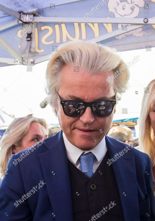 Dutch right-wing populist 'Partij voor de Vrijheid' (Party for the Freedom) leader Geert Wilders, during a visit with Flemish far-right 'Vlaams Belang' party' Filip Dewinter (not pictured), in Antwerp, Belgium, 02 September 2018. Wilders announced on 30 August that he was cancelling the Prophet Muhammad cartoon competition, scheduled to be held in autumn, over security concerns.