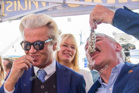 Dutch right-wing populist 'Partij voor de Vrijheid' (Party for the Freedom) leader Geert Wilders (L), during a visit with Flemish far-right 'Vlaams Belang' party' Filip Dewinter (R), in Antwerp, Belgium, 02 September 2018. Wilders announced on 30 August that he was cancelling the Prophet Muhammad cartoon competition, scheduled to be held in autumn, over security concerns.