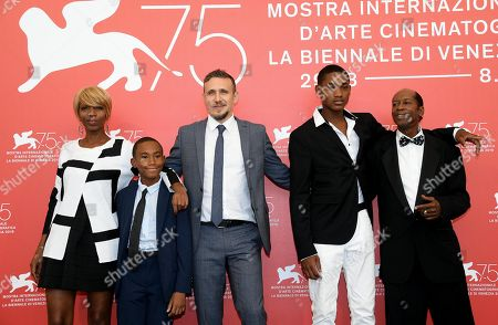 (L-R) Us actors Judy Hill, Titus Turner, Italian film firector Roberto Minervini, US actors Ronaldo King and Kevin Goodman pose during a photocall for 'What you gonna do when the world's on fire?' during the 75th annual Venice International Film Festival, in Venice, Italy, 02 September 2018. The movie is presented in the official competition 'Venezia 75' at the festival running from 29 August to 08 September 2018.