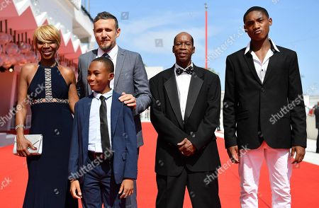 (L-R) US actress Judy Hill, Italian director Roberto Minervini and US actors Titus Turner, Kevin Goodman and Ronaldo King arrive for the premiere of 'What you gonna do when the world's on fire?' during the 75th annual Venice International Film Festival, in Venice, Italy, 02 September 2018. The movie is presented in the official competition 'Venezia 75' at the festival running from 29 August to 08 September 2018.