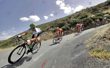 US rider Benjamin King (L) of Dimension Data team in action during the 9th stage of La Vuelta 2018 cycling tour, over 200.8 km between Talavera de la Reina and La Covatilla, Salamanca, Spain, 02 September 2018.