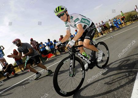 US rider Benjamin King of Dimension Data team in action during the 9th stage of La Vuelta 2018 cycling tour, over 200.8 km between Talavera de la Reina and La Covatilla, Salamanca, Spain, 02 September 2018.