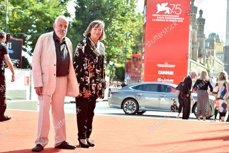 Marion Bailey and Mike Leigh