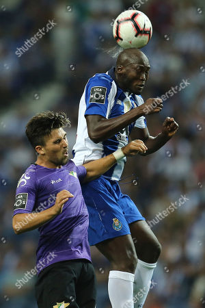 FC Porto´s Danilo (R) fights for the ball with Pato Rodriguez of Moreirense during their Portuguese First League soccer match held at Dragão Stadium, in Porto, Portugal, 02 September 2018.