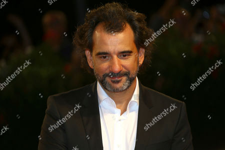 Pablo Trapero poses for photographers at the premiere of the film 'La Quietud' at the 75th edition of the Venice Film Festival in Venice, Italy
