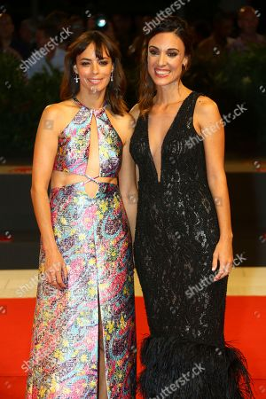 Berenice Bejo, Martina Gusman. Berenice Bejo and Martina Gusman poses for photographers at the premiere of the film 'La Quietud' at the 75th edition of the Venice Film Festival in Venice, Italy