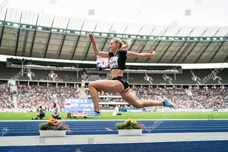 Berlin, Deutschland, 02.09.2018: Kristin Gierisch beim Dreisprung beim Leichtathletik Meeting ISTAF im Berliner Olympiastadion.