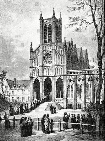 Paris France - Conciergie. Engraving by Jules David in Alet, La France Et Le Sacre-coeur.