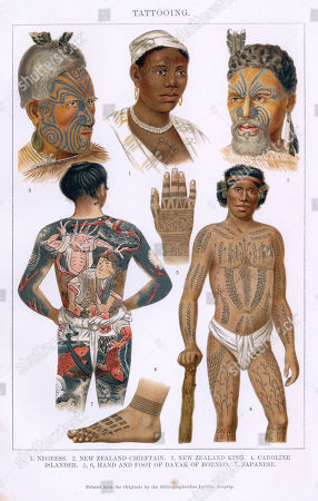 Scenes Tattoos Tattoo Body Art Style Design Inking Ink Global West African Woman Face Facial Patterns
