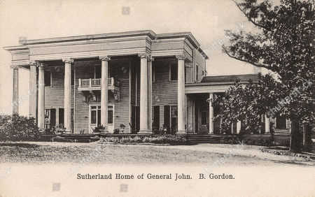 Stock Picture of Sutherland House in the Suburb of Kirkwood Atlanta Georgia Usa Home of General John Brown Gordon (1832-1904) Confederate Officer During the American Civil War. . Unattributed Postcard