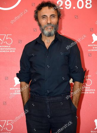 Italian actor Valerio Aprea poses during a photocall for 'La profezia dell'armadillo' during the 75th annual Venice International Film Festival, in Venice, Italy, 03 September 2018. The movie is presented in Orizzonti section at the festival running from 29 August to 08 September 2018.