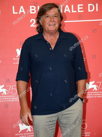 Italian actor Adriano Panatta poses during a photocall for 'La profezia dell'armadillo' during the 75th annual Venice International Film Festival, in Venice, Italy, 03 September 2018. The movie is presented in Orizzonti section at the festival running from 29 August to 08 September 2018.
