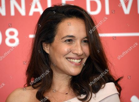 Israeli actress Yael Abecassis poses during a photocall for 'A letter to a friend in Gaza and A tramway in Jerusalem' during the 75th annual Venice International Film Festival, in Venice, Italy, 03 September 2018. The movie is presented in out competition at the festival running from 29 August to 08 September 2018.